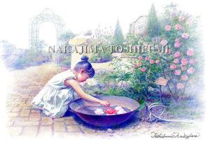 バラの水盤